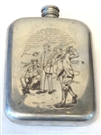 VINTAGE ENGLISH PEWTER FLASK MADE BY SHEFFIELD
