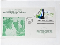 "FIRST DAY OF ISSUE ENVELOPE WITH ""BABE"" ZAHARIAS, STAMPED BY AUGUSTA, GA. POST OFFICE IN 1977"