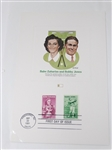 COMMEMORATIVE STAMPS ON THE FIRST DAY OF ISSUE OF BOBBY JONES AND BABE ZAHARIAS, 1981 IN PINEHURST, NC