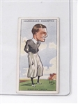 HORTON SMITH COLLECTIBLE CHURCHMANS CIGARETTES CARD FROM THE SERIES OF PROMINENT GOLFERS