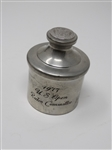 PEWTER WEIGHTED PAPERWEIGHT FROM 1977 U.S. OPEN RULES COMMITTEE WITH USGA LOGO ON THE TOP