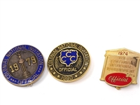 "COLLECTION OF 3 PINS ""OFFICIAL"" FROM  1974, 1979 AND 1980 COLONIAL NATIONAL INVITATIONAL"