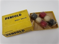 PENFOLD GOLF BALLS BOX WITH TWO UNOPENED SLEVES WITH GOLF BALLS