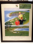 PEBBLE BEACH SIGNED BY TIGER WOODS OFFICIAL POSTER OF 100TH US OPEN CHAMPIONSHIP