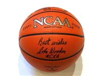 SIGNED BY COACH JOHN WOODEN NCAA FINAL FOUR GAME BASKETBALL UCLA BRUINS