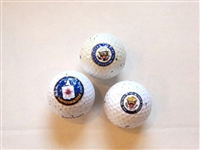COLLECTION OF 3 GOLF BALLS  WITH OFFICIAL SEALS - PRESIDENTIAL, CONGRESS AND INTELLIGENCE