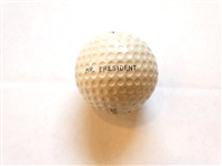 """MR. PRESIDENT"" GOLF BALL FROM PRESIDENT EISENHOWER WITH COA"