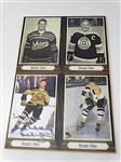 AUTOGRAPHED BY BOBBY ORR COLLAGE OF PHOTOS ON THE WOODEN BOARD - FROM COLLECTION OF CANADIAN GOLF PROFESSIONAL