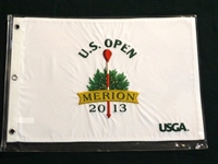 FLAG FROM U.S.OPEN CHAMPIONSHIP HELD IN MERION GOLF CLUB, 2013. JUSTIN ROSE WON HIS FIRST MAJOR