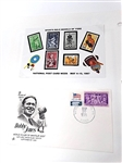 BOBBY JONES COMMEMORATIVE ENVELOPE STAMPED BY MERION STATIONS, PA. IN 1975 WITH COLLECTION OF STAMPS