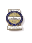 1971 PGA CONTESTANT BADGE, PGA NATIONAL GOLF CLUB - JACK NICKLAUS WINNER