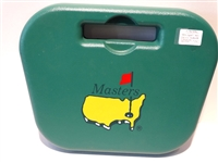 MASTERS MOLDED BOX SEAT WITH LARGE LOGO AND WITH CARRY SLOTS FOR 7 CUPS HOLDERS ON REVERSE SIDE