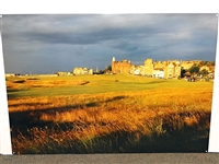 STUNNING IMAGE OF ST. ANDREWS LANDSCAPE ON METAL
