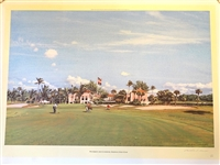 HAND SIGNED AND NUMBERED No. 119/ 350 LITHOGRAPH BY ARTHUR WEAVER OF 9TH GREEN AND CLUBHOUSE, SEMINOLE GOLF CLUB