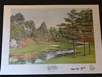 "AUGUSTA NATIONAL GOLF CLUB ""THE SIXTEENTH HOLE"" SIGNED BY ROBERT TRENT JONES LTD. ED. LITHOGRAPH # 840 OUT OF 850"