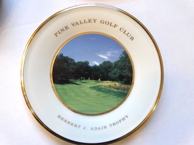 Lot Detail - PINE VALLEY GOLF CLUB AWARD PLATE BY LENOX ...