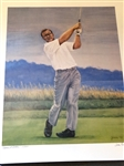 "ARNOLD PALMER LIMITED EDITION LITHOGRAPH BY GONDA. ""PULMER AT PEBBLE"", #127 OF 250"