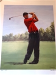TIGER WOODS LIMITED EDITION LITHOGRAPH #112 /250 BY GONDA,