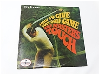 VINYL LP RECORD OF HOW TO GIVE YOUR GOLF GAME THE MASTERS TOUCH BY GAY BREWER