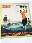 ADVERTISING VINTAGE BROCHURE THE HOME OF GOLF BY LONDON & NORTH EASTERN RAILWAY & SCOTLAND