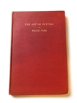 THE ART OF PUTTING BY WILLIE PARK OPEN CHAMPION, 1887 AND 1889. PUBLISHED 1920 EDINBURGH.