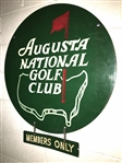 "1970s AUGUSTA NATIONAL GOLF CLUB METAL MAGNOLIA LANE ENTRANCE SIGN - DIAMETER 29"" - DOUBLE SIDED"