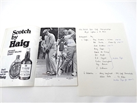 1969 SIGNED, THE OPEN GOLF CHAMPIONSHIP AT ROYAL LYTHAM & ST. ANNES OFFICIAL PROGRAM
