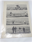 "1874 GOLFING CARTOON IN VERY GOOD CONDITION ""GOLF AT WESTWARD HO"""