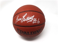 BILL RUSSELL AUTOGRAPHED OFFICIAL NBA BASKETBALL #6 WITH COA SIGNED BY BILL RUSSELL HIMSELF