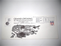 FIRST DAY OF ISSUE COMMEMORATIVE ENVELOPE 1974 WORLD GOLF HALL OF FAME GRAND OPENING , PINEHURST , N.C.