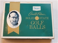 COLLECTIBLE BOX OF ARNOLD PALMER GOLF BALLS (ONLY BOX) BY SEARS- GREAT FOR DISPLAY