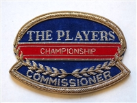 "BLAZER PATCH FROM THE PLAYERS CHAMPIONSHIP, ""COMMISSIONER"""
