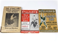 COLLECTION OF 3 SET OF BOOKS DATED 1926, 1927 ON WOMENS BASKETBALL. GUIDE OF OFFICIAL RULES & GUIDE FOR WOMEN  OFFICIAL RULES
