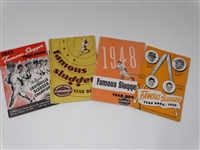 SET OF 4 BOOKLETS FROM 1942, 1946, 1948 AND 1950 ON GREAT HISTORICAL CONTENT ON BASEBALL