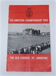 1963 THE AMATEUR CHAMPIONSHIP AT THE OLD COURSE, ST. ANDREWS COMPLETE BROCHURE
