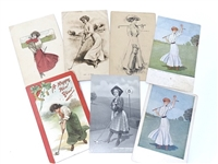 COLLECTION OF 7 EARLY POST CARDS