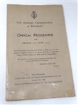 1932 OFFICIAL PROGRAMME FROM THE AMATEUR CHAMPIONSHIP AT MUIRFIELD