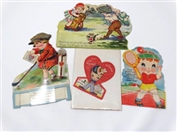 SET OF 4 VALENTINES CARDS FROM EARLY 1920S