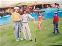 """THE MATCH"" ICONIC COMPETITION BETWEEN HOGAN AND BYRON NELSON AGAINST KEN VENTURI AND HARVIE WARD AT CYPRESS POINT"
