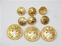 SET OF ROYAL & ANCIENT MEMBERS ONLY BLAZER BUTTONS