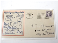 1933 COMMEMORATIVE ENVELOPE STAMPED FIRST DAY OF ISSUE, 1933 FOR THE OPENING OF AUGUSTA NATIONAL G.C.