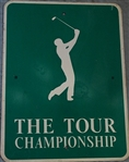 VINTAGE METAL PARKING SIGN FROM THE TOUR CHAMPIONSHIP IN PINEHURST IN 1991