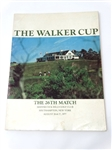 THE WALKER CUP OFFICIAL PROGRAM HELD IN SHINNECOCK HILLS GOLF CLUB IN 1977