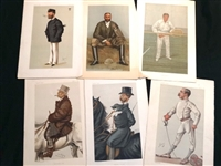 SET OF 6  ORIGINAL VANITY FAIR (SPY) PRINTS FROM 1869-1914, GREAT FOR FRAMING