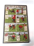 VINTAGE SIGN OF FAMOUS RULES OF THE COURSE (8) IMAGES ON WOOD