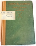 "SIGNED FIRST EDITION BOOK BY BOBBY JONES ""DOWN THE FAIRWAY"" - JULY 1927"
