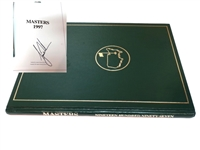 AUTOGRAPHED BY TIGER WOODS 1997 MASTERS ANNUAL - TIGER WOODS FIRST MASTERS WIN