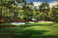 "ORIGINAL OIL PAINTING BY MARCI RULE OF AUGUSTA NATIONAL GC - SIZE 24"" X 36"