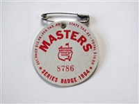 1964 MASTERS TOURNAMENT BADGE - ARNOLD PALMER WINNER