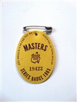 1965 MASTERS TOURNAMENT BADGE - JACK NICKLAUS 2ND WIN